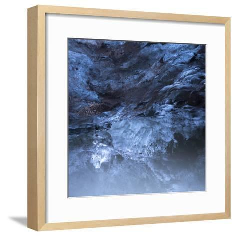 Photo of a Small Ice Cave Taken on Solheimajokull Glacier-Charles Kogod-Framed Art Print