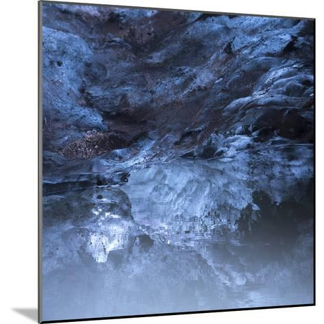 Photo of a Small Ice Cave Taken on Solheimajokull Glacier-Charles Kogod-Mounted Photographic Print