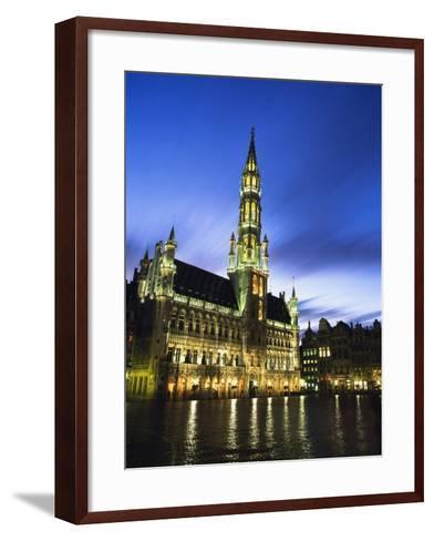 Hotel De Ville and Grand Place-Design Pics Inc-Framed Art Print