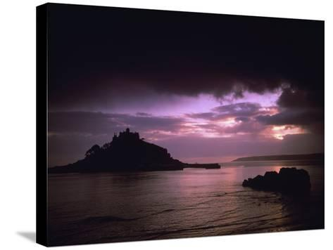 Pink Sky over St. Michael's Mount-Design Pics Inc-Stretched Canvas Print