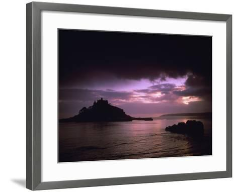 Pink Sky over St. Michael's Mount-Design Pics Inc-Framed Art Print