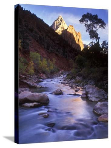 Autumn Sunset in Zion National Park, Utah-Keith Ladzinski-Stretched Canvas Print