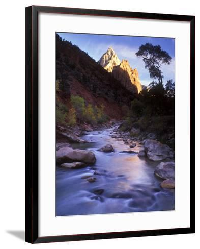 Autumn Sunset in Zion National Park, Utah-Keith Ladzinski-Framed Art Print