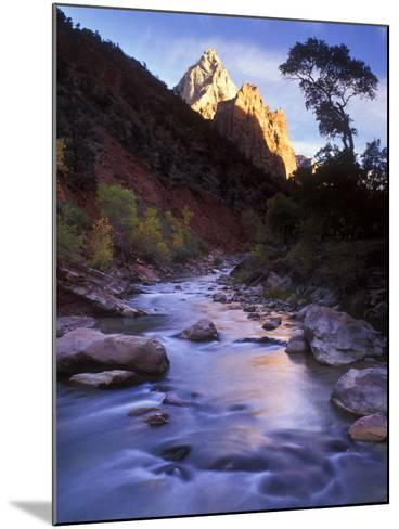 Autumn Sunset in Zion National Park, Utah-Keith Ladzinski-Mounted Photographic Print