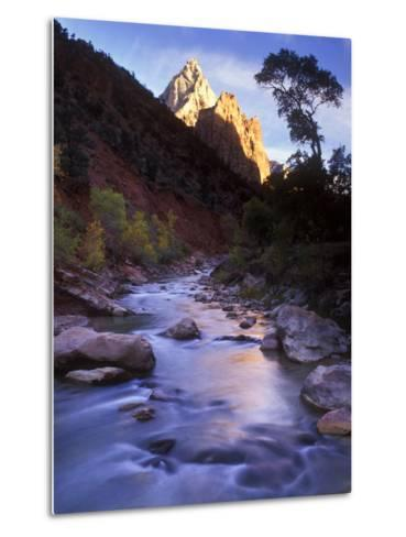 Autumn Sunset in Zion National Park, Utah-Keith Ladzinski-Metal Print