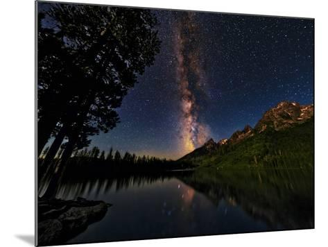 The Milky Way Shines over the Teton Range-Babak Tafreshi-Mounted Photographic Print