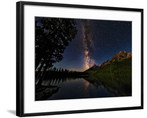 The Milky Way Shines over the Teton Range-Babak Tafreshi-Framed Art Print