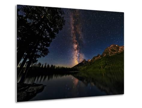 The Milky Way Shines over the Teton Range-Babak Tafreshi-Metal Print
