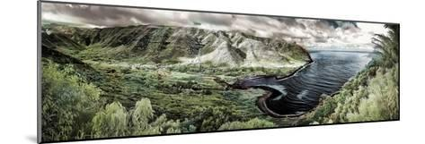 Panoramic Infrared Image of Halawa Valley and Bay at the East End of Molokai Island-Richard Cooke-Mounted Photographic Print