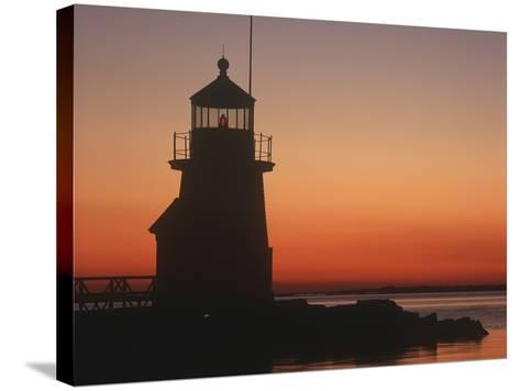 Lighthouse at Sunrise-Design Pics Inc-Stretched Canvas Print