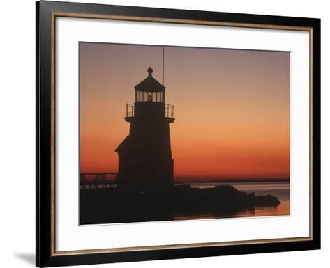 Lighthouse at Sunrise-Design Pics Inc-Framed Art Print