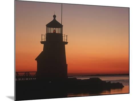 Lighthouse at Sunrise-Design Pics Inc-Mounted Photographic Print