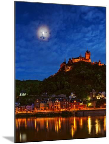 An Atmospheric Corona Circles the Moon Above the Imperial Castle of Cochem-Babak Tafreshi-Mounted Photographic Print