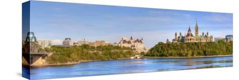 Parliament Buildings and the Fairmont Chateau Laurier; Ottawa Ontario Canada-Design Pics Inc-Stretched Canvas Print