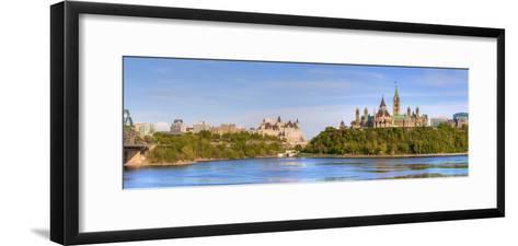 Parliament Buildings and the Fairmont Chateau Laurier; Ottawa Ontario Canada-Design Pics Inc-Framed Art Print