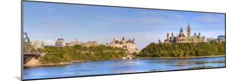 Parliament Buildings and the Fairmont Chateau Laurier; Ottawa Ontario Canada-Design Pics Inc-Mounted Photographic Print