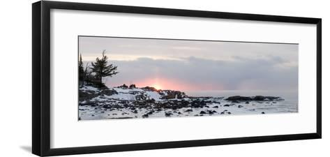 Winter Along Lake Superior at Sunrise; Minnesota, USA-Design Pics Inc-Framed Art Print