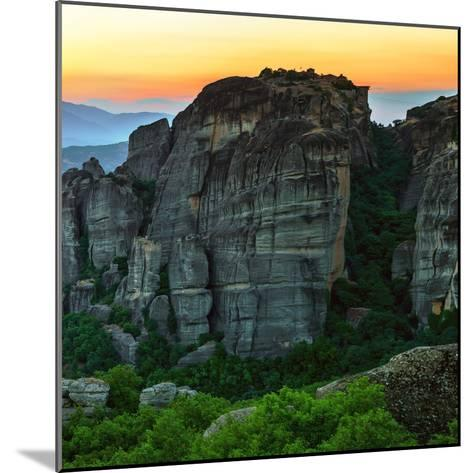 Sunsets over the Sandstone Pillars of Meteora-Babak Tafreshi-Mounted Photographic Print