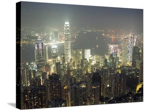 City Illuminated at Night, Hong Kong-Design Pics Inc-Stretched Canvas Print