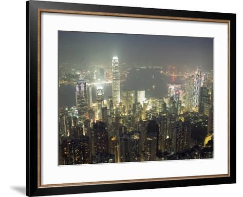 City Illuminated at Night, Hong Kong-Design Pics Inc-Framed Art Print