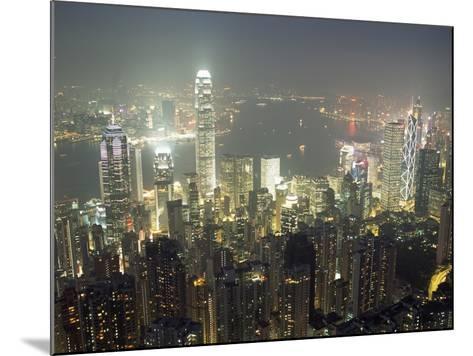 City Illuminated at Night, Hong Kong-Design Pics Inc-Mounted Photographic Print