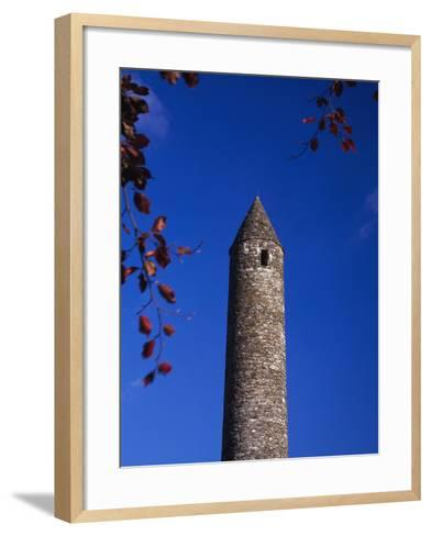 Round Stone Tower at Glendalough-Design Pics Inc-Framed Art Print