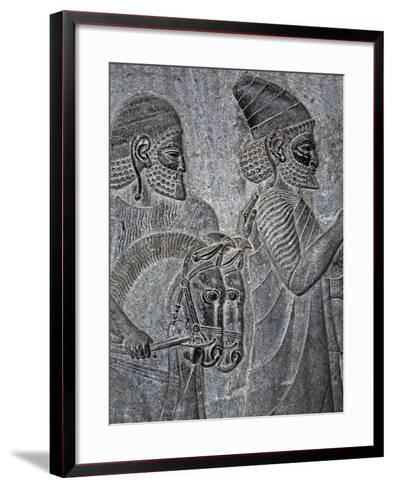 Bas-Reliefs on the Great Staircase of Apadana Palace, Persepolis-Babak Tafreshi-Framed Art Print