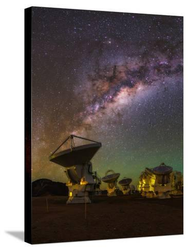 The Milky Way Appears over the Alma Radio Telescopes-Babak Tafreshi-Stretched Canvas Print