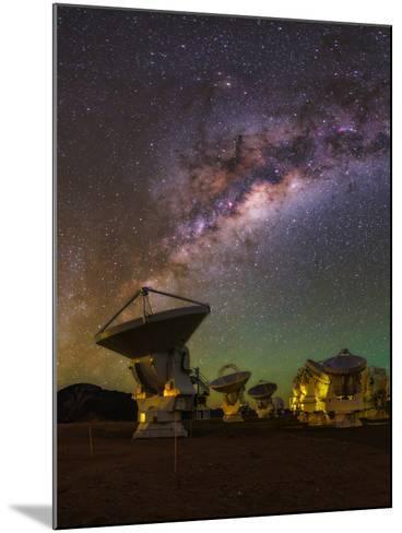 The Milky Way Appears over the Alma Radio Telescopes-Babak Tafreshi-Mounted Photographic Print