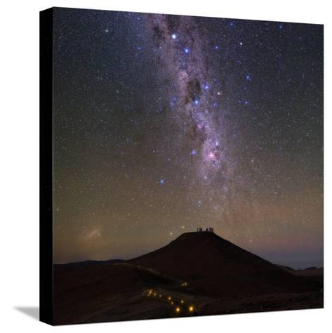 The Southern Milky Way and the Southern Cross Above the Cerro Paranal Observatory in Chile-Babak Tafreshi-Stretched Canvas Print