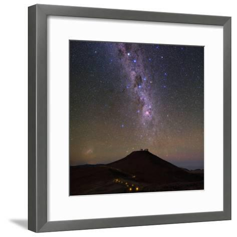 The Southern Milky Way and the Southern Cross Above the Cerro Paranal Observatory in Chile-Babak Tafreshi-Framed Art Print
