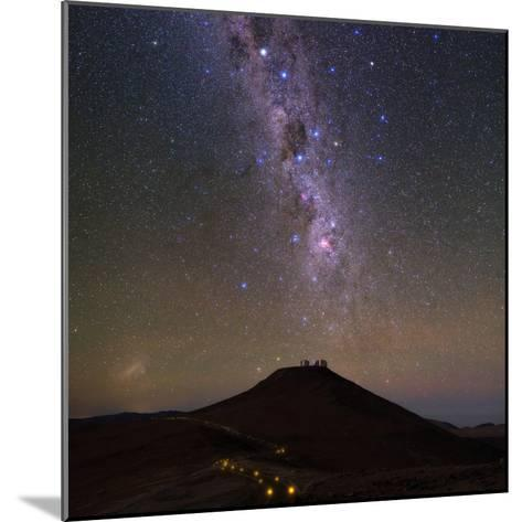 The Southern Milky Way and the Southern Cross Above the Cerro Paranal Observatory in Chile-Babak Tafreshi-Mounted Photographic Print