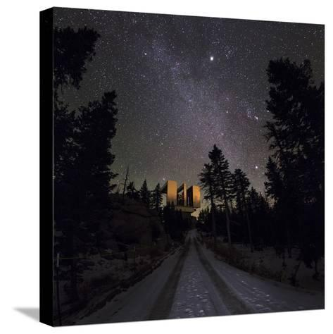 Winter Stars, Including Jupiter, and the Milky Way over the Large Binocular Telescope-Babak Tafreshi-Stretched Canvas Print