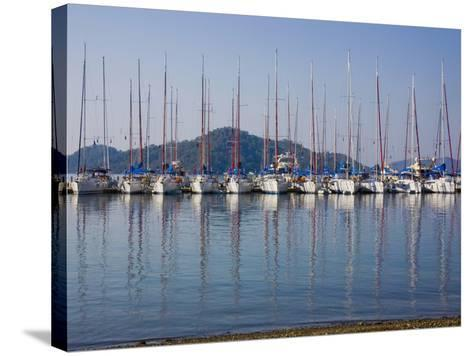 Yachts Docked in the Harbor; Gocek, Mugla Province, Turkey-Design Pics Inc-Stretched Canvas Print