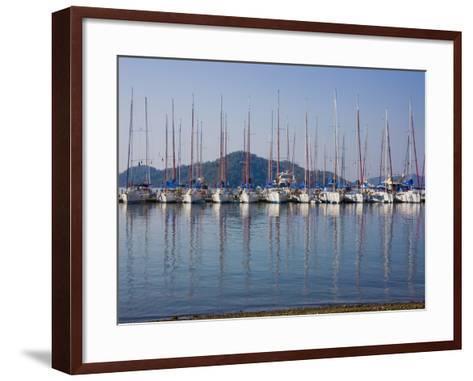 Yachts Docked in the Harbor; Gocek, Mugla Province, Turkey-Design Pics Inc-Framed Art Print