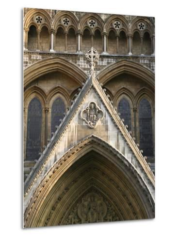 Detail of Westminster Abbey-Design Pics Inc-Metal Print