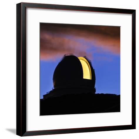 The William Herschel Telescope at Dawn-Babak Tafreshi-Framed Art Print