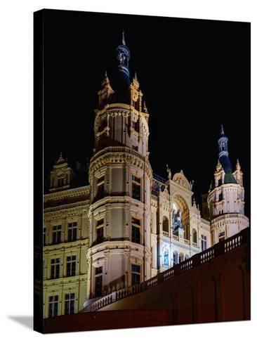 The Historic Schwerin Palace at Night-Babak Tafreshi-Stretched Canvas Print