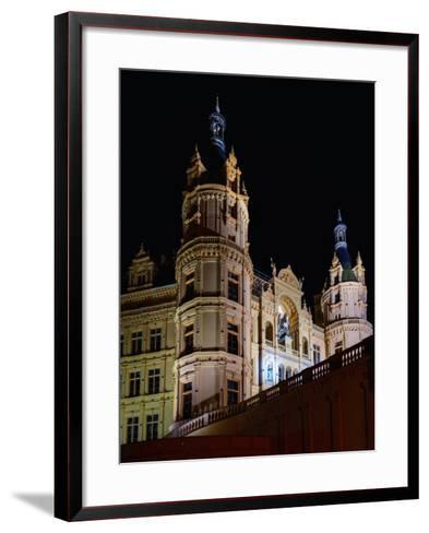 The Historic Schwerin Palace at Night-Babak Tafreshi-Framed Art Print