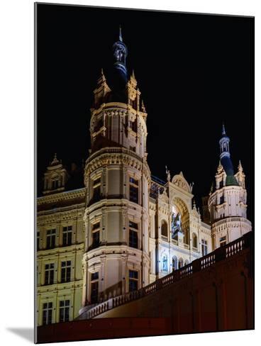 The Historic Schwerin Palace at Night-Babak Tafreshi-Mounted Photographic Print