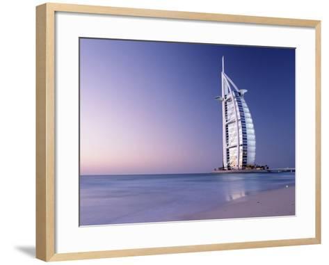 The Burj Al-Arab or Arabian Tower at Dusk-Design Pics Inc-Framed Art Print
