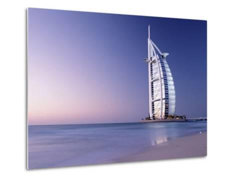 The Burj Al-Arab or Arabian Tower at Dusk-Design Pics Inc-Metal Print