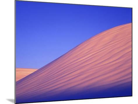 A Rarely Seen View of Snow-Covered Sand Dunes, at Twilight-Keith Ladzinski-Mounted Photographic Print