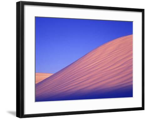 A Rarely Seen View of Snow-Covered Sand Dunes, at Twilight-Keith Ladzinski-Framed Art Print