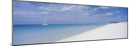 Yacht Moored Off Palm Beach-Design Pics Inc-Mounted Photographic Print