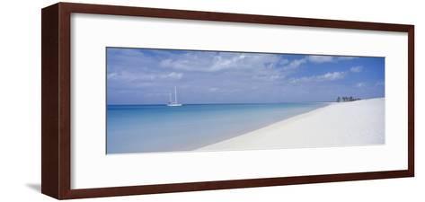 Yacht Moored Off Palm Beach-Design Pics Inc-Framed Art Print
