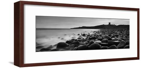Embleton Bay with Dunstanburgh Castle in Distance, Northumberland,England,Uk-Design Pics Inc-Framed Art Print