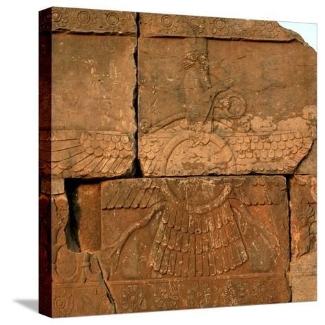 A Relief in Persepolis Depicting Faravahar, the Best-Known Symbol of Zoroastrians-Babak Tafreshi-Stretched Canvas Print