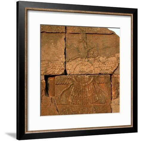 A Relief in Persepolis Depicting Faravahar, the Best-Known Symbol of Zoroastrians-Babak Tafreshi-Framed Art Print