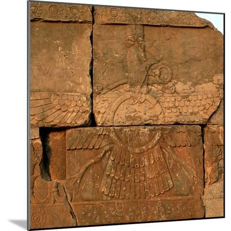 A Relief in Persepolis Depicting Faravahar, the Best-Known Symbol of Zoroastrians-Babak Tafreshi-Mounted Photographic Print
